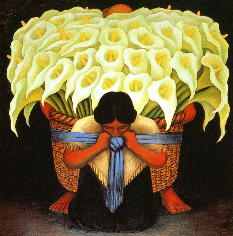 Flower Vendor by Diego Rivera