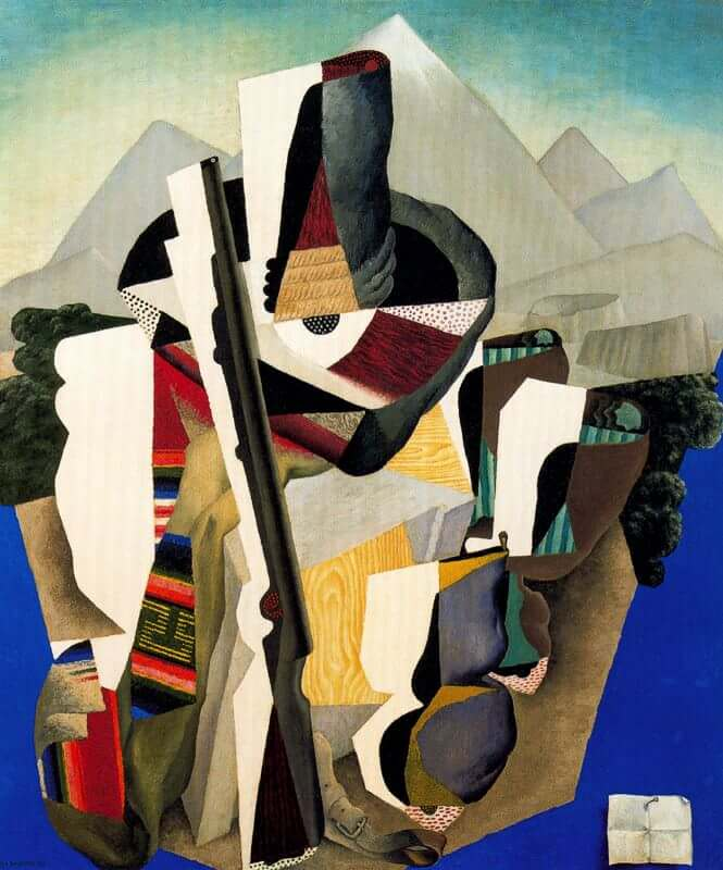 Zapatista Landscape, 1915 by Diego Rivera